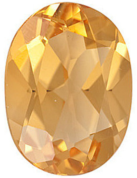 Faceted Loose Natural Oval Shape Citrine Gemstone Grade A, 16.00 x 12.00 mm in Size, 8.75 carats