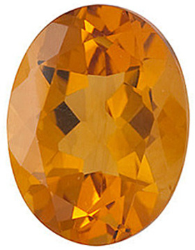 Genuine Calibrated Top Quality Oval Shape Citrine Gemstone Grade AA, 16.00 x 12.00 mm in Size, 8.75 carats