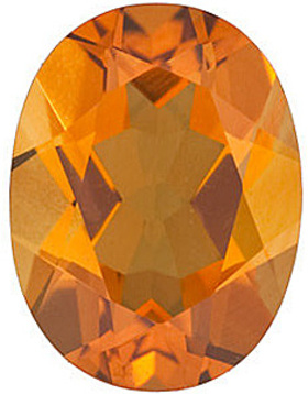 Standard Size Faceted Loose Oval Shape Citrine Gemstone Grade AAA, 7.00 x 5.00 mm in Size, 0.72 carats