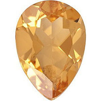 Faceted Loose Natural Pear Shape Citrine Gemstone Grade A, 9.00 x 6.00 mm in Size, 1.2 carats