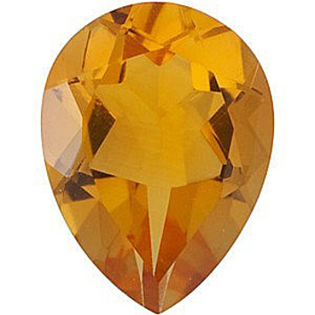 Calibrated Size Genuine Beautiful Pear Shape Citrine Gemstone Grade AA, 12.00 x 8.00 mm in Size, 3 carats