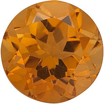 Natural Standard Size Loose Round Shape Citrine Gemstone Grade AA, 7.00 mm in Size, 1.2 carats