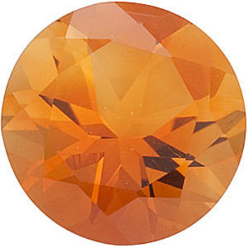 Faceted Loose Natural Round Shape Citrine Gemstone Grade AAA, 5.50 mm in Size, 0.6 carats
