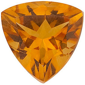 Standard Size Faceted Loose Trillion Shape Citrine Gemstone Grade AA, 7.00 mm in Size, 0.9 carats