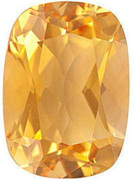 Fine Genuine Standard Size Antique Cushion Shape Citrine Gemstone Grade A, 12.00 x 10.00 mm in Size, 4.95 carats