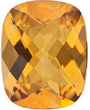 Genuine Calibrated Top Quality Antique Cushion Shape Checkerboard Citrine Gemstone Grade AA, 10.00 x 8.00 mm in Size, 2.5 carats