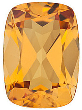 Faceted Loose Natural Antique Cushion Shape Citrine Gemstone Grade AA, 8.00 x 6.00 mm in Size, 1.22 carats