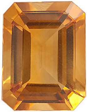 Natural Standard Size Loose Emerald Shape Citrine Gemstone Grade AA, 11.00 x 9.00 mm in Size, 4.15 carats