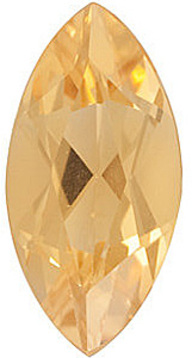 Faceted Loose Natural Marquise Shape Citrine Gemstone Grade A, 12.00 x 6.00 mm in Size, 1.6 carats