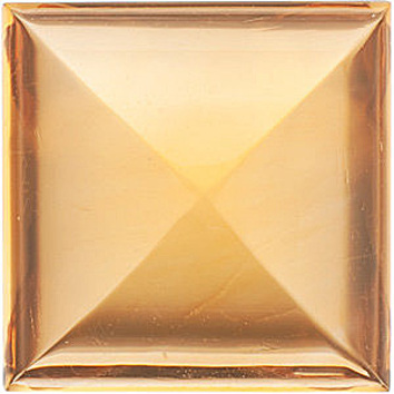 Faceted Loose Natural Square Shape Cabochon Citrine Gemstone Grade AA, 10.00 mm in Size, 5.85 carats
