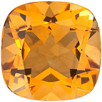 Natural Standard Size Loose Antique Square Shape Citrine Gemstone Grade AA, 12.00 mm in Size, 7 carats