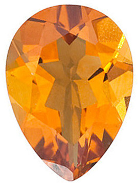 Genuine Calibrated Top Quality Pear Shape Citrine Gemstone Grade AAA, 7.00 x 5.00 mm in Size, 0.63 carats