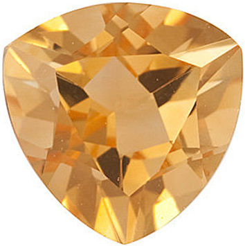 Natural Standard Size Loose Trillion Shape Citrine Gemstone Grade A, 8.00 mm in Size, 1.65 carats