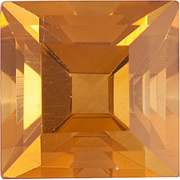 Standard Size Faceted Loose Step Shape Citrine Gemstone Grade AA, 6.00 mm in Size, 1.08 carats