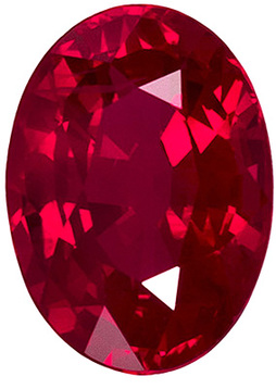 UltraGem Clean Beautiful Rich Red Ruby of Finest Quality, Oval Cut, 7 x 5.1 mm, 1.1 carats