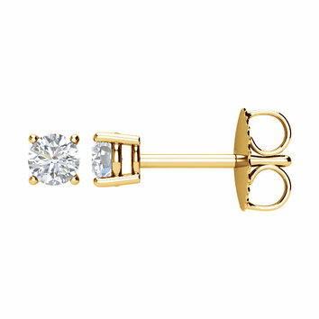 1/4 Carat Total Weight Diamond Friction Post Stud Earring