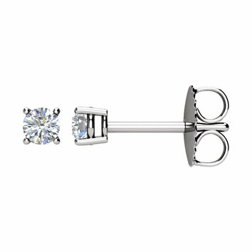 14 KT White Gold 1/5 Carat Total Weight Diamond Earrings