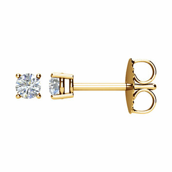 14 KT Yellow Gold 1/5 Carat Total Weight Diamond Earrings
