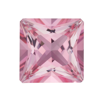 Cut Natural Calibrated Size Princess Shape Baby Pink Passion Topaz Gemstone Grade AAA, 7.00 mm in Size