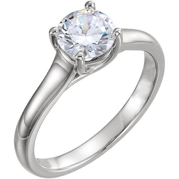 Cathedral Setting Continuum Sterling Silver 1 Carat Total Weight Diamond Solitaire Engagement Ring