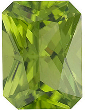 Grade AAA - Radiant Cut Arizona Peridot 5.00 x 3.00 mm to 9.00 x 7.00 mm