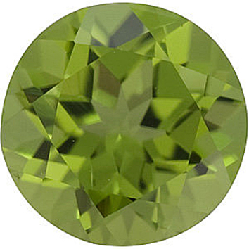 Grade AAA - Round Genuine Peridot 1.00 mm to 8.00 mm