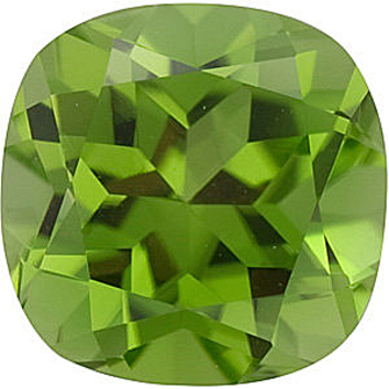 Grade AAA - Antique Square Peridot 5.00 mm to 8.00 mm