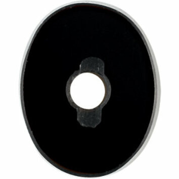 Grade AAA - Flat Top Hole Back Oval Black Onyx 10.00 x 8.00 mm to 16.00 x 12.00 mm