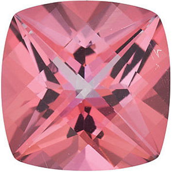 SWAROVSKI GEMS PINK PASSION TOPAZ Antique Square Cut Gems  - Calibrated