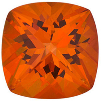 SWAROVSKI GEMS POPPY PASSION TOPAZ Antique Square Cut Gems  - Calibrated
