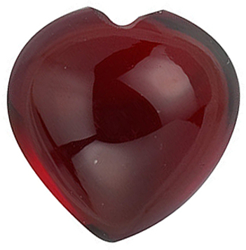 Grade AAA -Cabochon Heart Genuine Red Garnet 4.00 mm to 6.00 mm