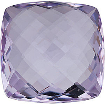 Grade AA - Double Sided Checkerboard Antique Square Rose de France Amethyst 10.00 mm to 16.00 mm