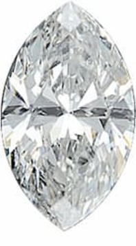 Diamond Melee, Marquise Shape, G-H Color - SI2/SI3 Clarity, 4.50 x 2.50 mm in Size, 0.13 Carats