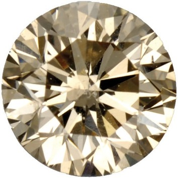 Fancy Light Brown Diamond Melee Round Shape, I1 Clarity, 1.80 mm in Size, 0.03 Carats