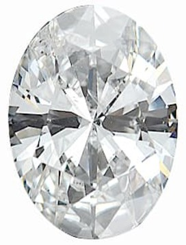 Diamond Melee, Oval Shape, G-H Color - SI3/SI3 Clarity, 5.00 x 4.00 mm in Size, 0.33 Carats