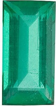 Emerald Stone, Baguette Shape, Grade A, 4.25 x 2.25 mm in Size, 0.15 Carats