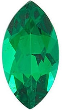 Emerald Gem, Marquise Shape, Grade AAA, 7.00 x 3.50 mm in Size, 0.35 Carats