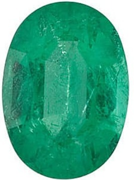 Emerald Stone, Oval Shape, Grade A, 4.00 x 3.00 mm in Size, 0.17 Carats