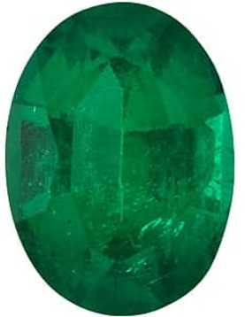 Emerald Stone, Oval Shape, Grade AAA, 5.00 x 3.00 mm in Size, 0.24 Carats