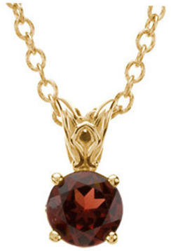 14KT Yellow Gold Mozambique Garnet 18
