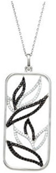 Sterling Silver Black Spinel & 3/8 Carat Total Weight Diamond 18