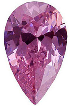 PINK CUBIC ZIRCONIA Pear Cut Gems - Calibrated