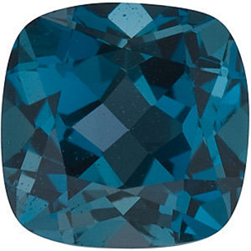 Grade AAA - Antique Square Genuine London Blue Topaz 5.00 mm to 6.00 mm