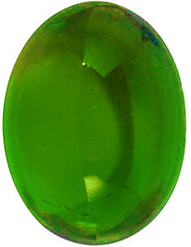 Grade AAA - Cabochon Oval Genuine Green Tourmaline 5.00 x 3.00 mm to 6.00 x 4.00 mm