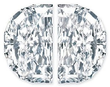 Buy Diamond Pair, Half Moon, G-H Color VS Clarity, 4.70 x 2.70 mm in Size, 0.45 Carats