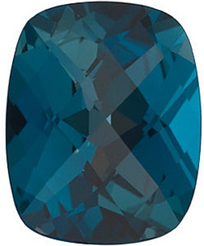 Grade AAA - Checkerboard antique cushion Genuine London Blue Topaz 8.00 x 6.00 mm to 10.00 x 8.00 mm