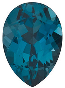 Grade AAA - Pear Genuine London Blue Topaz 5.00 x 3.00 mm to 15.00 x 10.00 mm