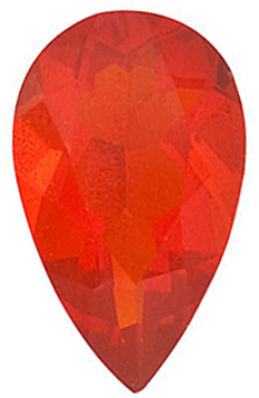 Grade AAA - Pear Genuine Mexican Fire Opal 5.00 x 3.00 mm to 8.00 x 5.00 mm