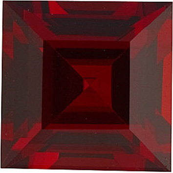 Grade AAA - Square Genuine Red Garnet 3.00 mm to 8.00 mm