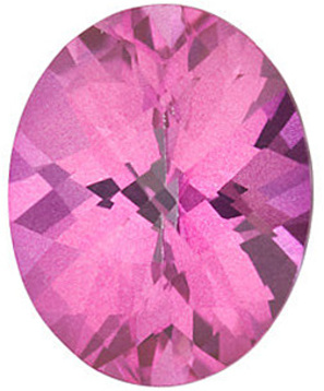 Grade AAA - Checkerboard Oval Genuine Mystic Pink Topaz 10.00 x 8.00 mm to 14.00 x 10.00 mm